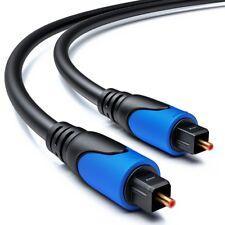 deleyCON 1m Toslink Kabel - Optisches Digital Audio Kabel - LWL SPDIF