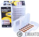 60 x  Duracell Activair Hörgerätebatterien 312 Hearing AID 24607 6134 10 Blister