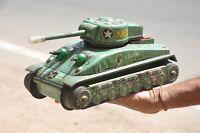 Vintage Litho Battery Taiyo Mark M-4 U.S Army Military War Tank Tin Toy , Japan