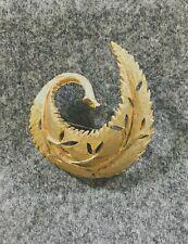 Gold-toned Brooch Vintage Leaf Bsk