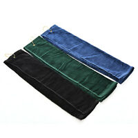Touch Golf Tri-Fold Towel With Carabiner Clip Sports Hiking Cotton 40x60cm hcuk