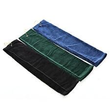 Touch Golf Tri Fold Handtuch mit Karabiner Clip Sport Wandern Baumwolle 40x60 cm