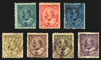 Canada #89-#95 1c-50c 1903-08 King Edward VII Mint & Used Set 7 items