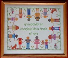 Vintage Cross Stitch Wall Hanging Picture Childrens Kids Room Decor