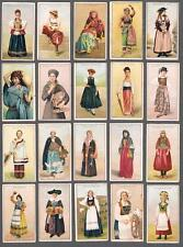 1900's ITC C97 Women of All Nations Tobacco Cards Complete Set of 50