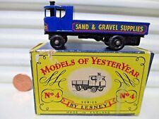 Lesney Matchbox 1959 Models of Yesteryear Y4 1928 Sentinel Steam Truck BkPWhls