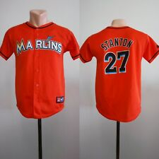 Giancarlo Stanton #27 Miami Marlins Jersey MLB Majestic Baseball Kids Youth Sz L
