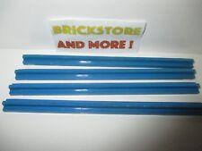Lego - 4x Train Track Tapered Rail Straight 16L 1x16 3228 Blue/Bleu/Blau