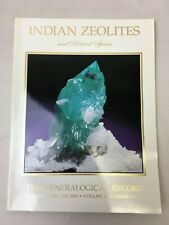 Mineralogical Record Magazine January February 2003 Vol 34 No. 1 Indian Zeolites