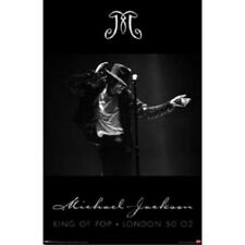 2009 FUNKY 5231 MICHAEL JACKSON KING OF POP SMOOTH POSTER LONDON 50 O2  22x34