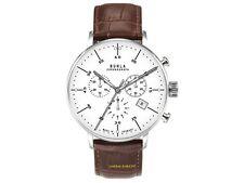 Ruhla Chronographe 91203 classique Bauhaus avec bracelet cuir Date Chronomètre