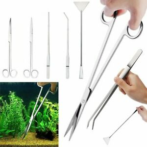 Long Aquarium Tools Tank Aquatic Plant Tweezers Scissors Plant Stainless Steel