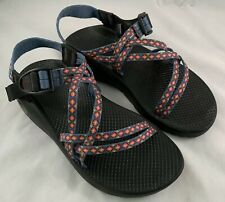 Chaco Sport Sandals Womens Blue Diamond Aztec Hiking Sandals Size 8