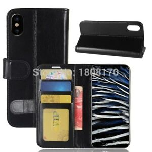 Luxury Leather Wallet Phone Case Flip Cover Card Slot Phone Bag For iPhone X XS