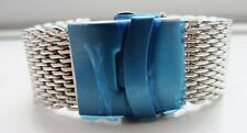 24mm Stainless Steel Shark Mesh Watch Band Bracelet Strap Safety Clasp BNWOT