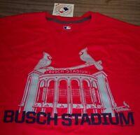 ST. LOUIS CARDINALS MLB BASEBALL Busch Stadium T-Shirt XL NEW w/ TAG