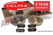 Delphi Ford Focus MK2 1.8 2.0 TDCI Rear Brake Discs & Pads 2004-2011 Braking Kit