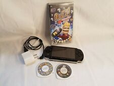 Sony PlayStation Portable PSP Black 3001E Handheld System Bundle+3 Games,Charger