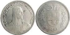 SUISSE  ,  5  FRANCS  ARGENT  1923