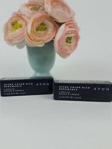 New Vtg 2 Avon Ultra Color Rich Renewable Lipstick Terra Cotta 671 Sealed
