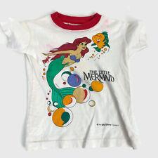 Vintage Disney The Little Mermaid Ariel Flounder Children's Girl's Shirt Small