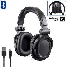 Pro Bluetooth Wireless HiFi Headphones Over the Ear DJ Headset Mic Qualcomm aptX