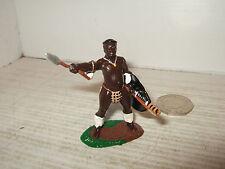 Trophy Miniatures Zulu Wars Zulu Warrior Taunts the Enemy with Assagai Spear