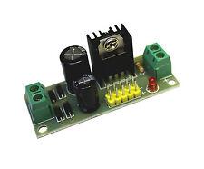 12 V DC Festspannungsregler - Fertigbaustein - mit Kontroll Led und Kühlkörper