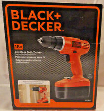 BLACK & DECKER #GC1801 18V CORDLESS DRILL/DRIVER W/ BATTERY & CHARGER, FREE SHIP