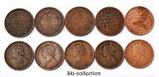5 x 1/4 One Quarter Anna 1862-87 Inde/ India. Victoria. British Colonies. Bronze