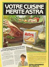 Publicité 1982  ASTRA Margarine Francoise Bernard carré d'agneau