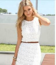 Fashion Sexy Women Summer Casual Sleeveless Party Evening Cocktail Lace Dress