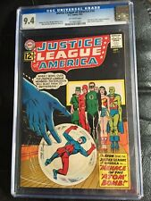 JUSTICE LEAGUE OF AMERICA #14 CGC NM 9.4; OW; Atom joins JLA; bowling cover!
