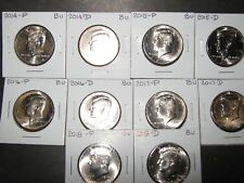 2014 2015 2016 2017 2018  P & D KENNEDYS 10 Coins from Mint Rls
