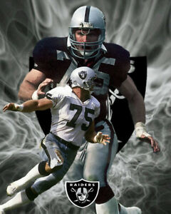 Oakland Raiders Lithograph print of Howie Long