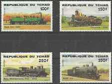 Timbres Trains Tchad 456/9 ** lot 1689