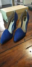 Armani Collezioni Blue Suede High Heels37 EU / 7 US / Used once (retail $575)