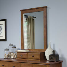 Dresser Mirror with 2 Storage Drawers Vanity Bedroom Soft Oiled Oak Color NEW