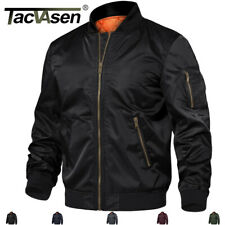 Fall Mens Cotton Bomber Jackets Thermal Flight Pilot Baseball Style Jacket Coats