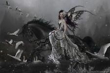 Lamentation of Swans by Nene Thomas Art Print Poster 12x18