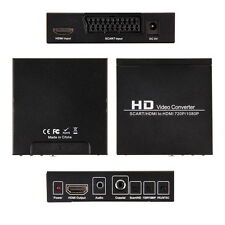 Scart HDMI to HDMI 720P 1080P HD Video Converter Adapter Box For HDTV DVD XBwS