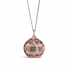 Lily Blanche Memory Keeper Locket Pendant Necklace 18 Carat Rose Gold Vermeil