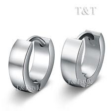 TT Plain 3mm Width Stainless Steel Top Ear Hoop Earrings outer 10mm EH01S(3x6)