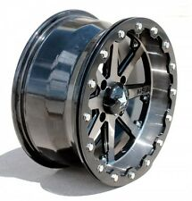 "Set (4) MSA MotoSport Alloys 15"" Lok M21 Gunmetal Gun Metal Beadlock Rim Wheel"