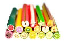 Fimo Früchte Set mit 17 Stangen verschiedener Früchte