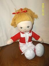 """Cracker Barrel Plush 16"""" Blonde Doll with Butterfly Tag Believe in yourself"""