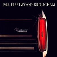 1986 Cadillac Fleetwood Brougham 16-page Original Car Sales Brochure Catalog