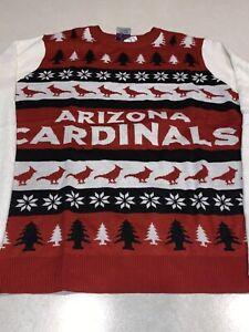 Arizona Cardinals Mens NFL Ugly Christmas Sweater Winter Football Size XL New