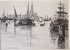 Antique Reproduction of Engraving of Venice by W.B. Scott, 1881