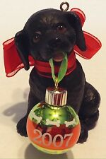 Carlton Black Lab Puppy Love Christmas Ornament 2007 7th in Series